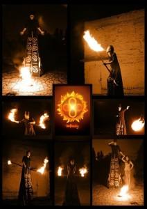 Ходулисты с огнем