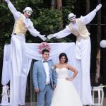 Заказать ходулистов на свадьбу